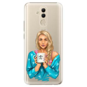 Plastové pouzdro iSaprio Coffee Now Blondýna na mobil Huawei Mate 20 Lite
