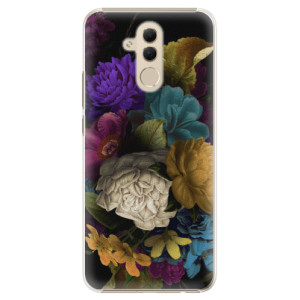 Plastové pouzdro iSaprio Temné Květy na mobil Huawei Mate 20 Lite