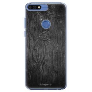 Plastové pouzdro iSaprio Black Wood 13 na mobil Honor 7C