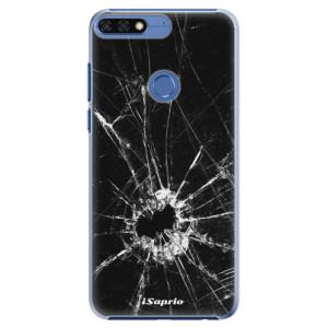 Plastové pouzdro iSaprio Broken Glass 10 na mobil Honor 7C