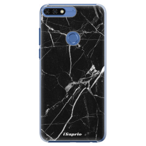 Plastové pouzdro iSaprio Black Marble 18 na mobil Honor 7C