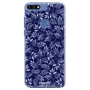 Plastové pouzdro iSaprio Blue Leaves 05 na mobil Honor 7C