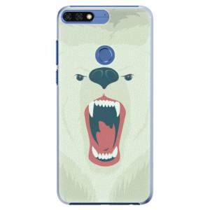 Plastové pouzdro iSaprio Naštvanej Medvěd na mobil Honor 7C