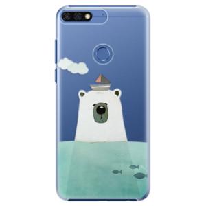 Plastové pouzdro iSaprio Medvěd s Lodí na mobil Honor 7C