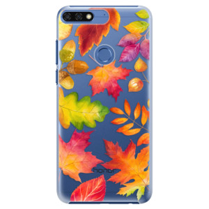 Plastové pouzdro iSaprio Podzimní Lístečky na mobil Honor 7C