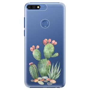 Plastové pouzdro iSaprio Kaktusy 01 na mobil Honor 7C
