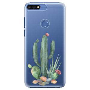 Plastové pouzdro iSaprio Kaktusy 02 na mobil Honor 7C