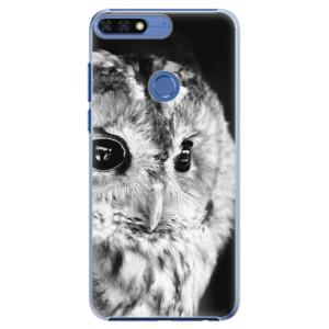 Plastové pouzdro iSaprio BW Sova na mobil Honor 7C