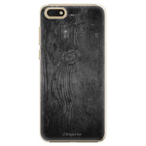 Plastové pouzdro iSaprio Black Wood 13 na mobil Honor 7S