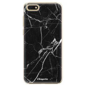 Plastové pouzdro iSaprio Black Marble 18 na mobil Honor 7S