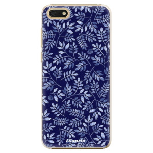 Plastové pouzdro iSaprio Blue Leaves 05 na mobil Honor 7S