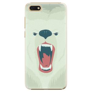 Plastové pouzdro iSaprio Naštvanej Medvěd na mobil Honor 7S