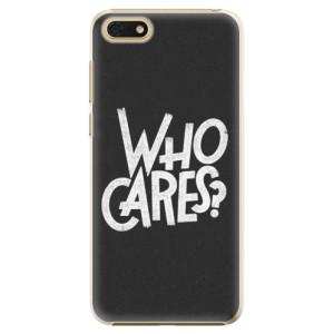 Plastové pouzdro iSaprio Who Cares na mobil Honor 7S