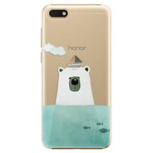 Plastové pouzdro iSaprio Medvěd s Lodí na mobil Honor 7S