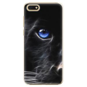 Plastové pouzdro iSaprio Black Puma na mobil Honor 7S