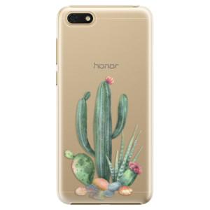 Plastové pouzdro iSaprio Kaktusy 02 na mobil Honor 7S
