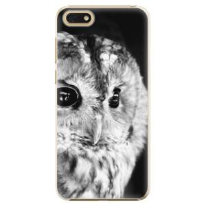 Plastové pouzdro iSaprio BW Sova na mobil Honor 7S