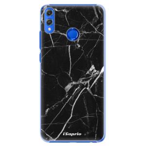 Plastové pouzdro iSaprio Black Marble 18 na mobil Honor 8X