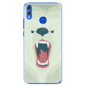 Plastové pouzdro iSaprio Naštvanej Medvěd na mobil Honor 8X