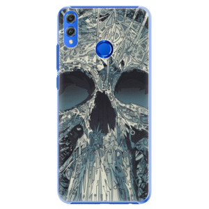 Plastové pouzdro iSaprio Abstract Skull na mobil Honor 8X