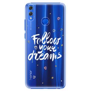 Plastové pouzdro iSaprio Follow Your Dreams bílý na mobil Honor 8X