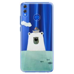 Plastové pouzdro iSaprio Medvěd s Lodí na mobil Honor 8X