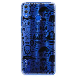 Plastové pouzdro iSaprio Komiks 01 black na mobil Honor 8X