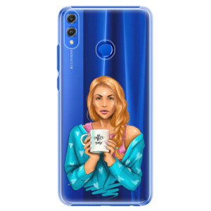 Plastové pouzdro iSaprio Coffee Now Zrzka na mobil Honor 8X