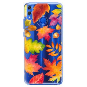 Plastové pouzdro iSaprio Podzimní Lístečky na mobil Honor 8X