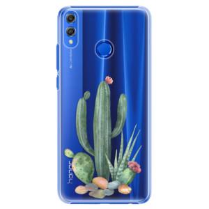Plastové pouzdro iSaprio Kaktusy 02 na mobil Honor 8X