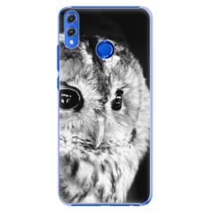 Plastové pouzdro iSaprio BW Sova na mobil Honor 8X
