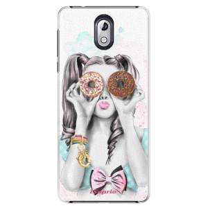 Plastové pouzdro iSaprio Donutky Očiska 10 na mobil Nokia 3.1