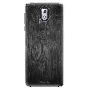 Plastové pouzdro iSaprio Black Wood 13 na mobil Nokia 3.1