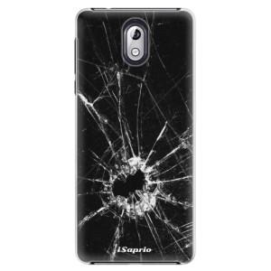 Plastové pouzdro iSaprio Broken Glass 10 na mobil Nokia 3.1
