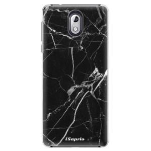 Plastové pouzdro iSaprio Black Marble 18 na mobil Nokia 3.1
