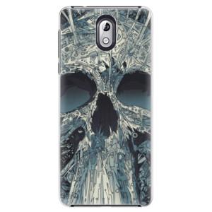 Plastové pouzdro iSaprio Abstract Skull na mobil Nokia 3.1