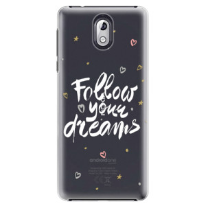 Plastové pouzdro iSaprio Follow Your Dreams bílý na mobil Nokia 3.1