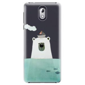 Plastové pouzdro iSaprio Medvěd s Lodí na mobil Nokia 3.1