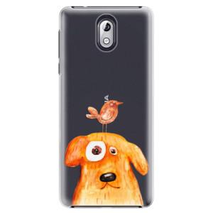 Plastové pouzdro iSaprio Pejsek a Ptáček na mobil Nokia 3.1