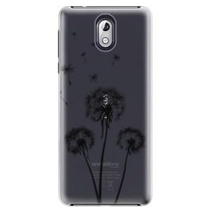 Plastové pouzdro iSaprio Tři Černé Pampelišky na mobil Nokia 3.1