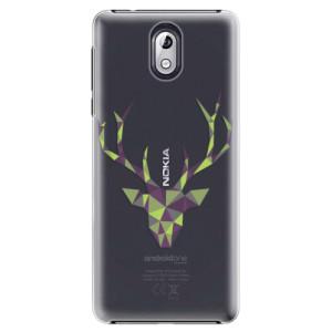 Plastové pouzdro iSaprio Zelený Jelínek na mobil Nokia 3.1