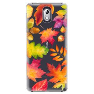 Plastové pouzdro iSaprio Podzimní Lístečky na mobil Nokia 3.1