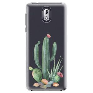 Plastové pouzdro iSaprio Kaktusy 02 na mobil Nokia 3.1