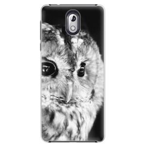 Plastové pouzdro iSaprio BW Sova na mobil Nokia 3.1