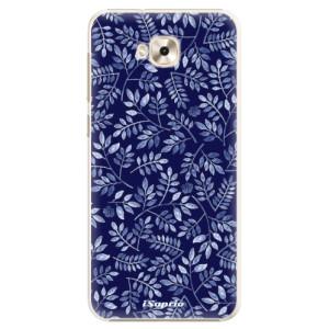 Plastové pouzdro iSaprio Blue Leaves 05 na mobil Asus ZenFone 4 Selfie ZD553KL
