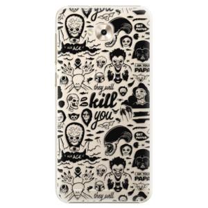 Plastové pouzdro iSaprio Komiks 01 black na mobil Asus ZenFone 4 Selfie ZD553KL