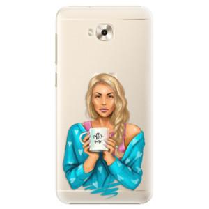 Plastové pouzdro iSaprio Coffee Now Blondýna na mobil Asus ZenFone 4 Selfie ZD553KL