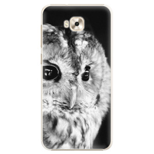 Plastové pouzdro iSaprio BW Sova na mobil Asus ZenFone 4 Selfie ZD553KL