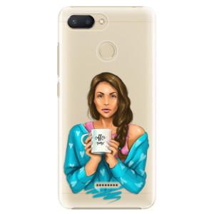 Plastové pouzdro iSaprio Coffee Now Brunetka na mobil Xiaomi Redmi 6
