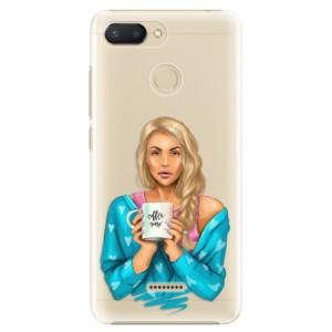 Plastové pouzdro iSaprio Coffee Now Blondýna na mobil Xiaomi Redmi 6